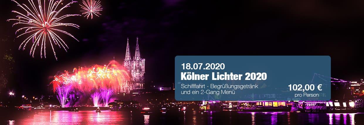 Kölner Lichter 2020 Schiff